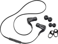 Plantronics BackBeat Go headset sports tangle-free cord, 'rich' stereo sound. Bluetooth connectivity with the ability to act as a bluetooth headset. Might be nice for the gym or running. $100