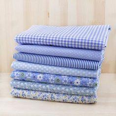 7pcs 50cm x47cm-50cm plain thin Patchwork Cotton dobby Fabric Floral Series Quilt Charm Quarters Bundle Sewing