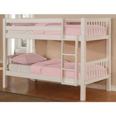 Powell White Twin/Twin Bunk Bed in 2-Carton - http://www.furniturendecor.com/powell-white-twintwin-bunk-bed-in-2-carton/