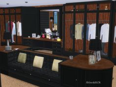Contemporaty Furniture inspired by Clive Christian - here the Bedroom with Closet  Found in TSR Category 'Sims 4 Adult Bedroom Sets'