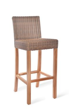 Teak & rattan bar stool Kitchen Pinterest