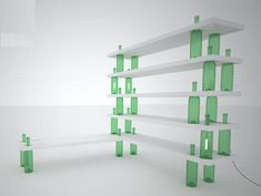 Wine bottle shelving would solve many of my household organizational problems...