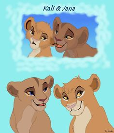 Kali and Jana , Vitani my god daughter Kopa's cubs. The one that is adult on the left is Jana my great niece, the one as adult on right, is Kali my great niece Lion King Story, Lion King Fan Art, Lion King 2, Disney Lion King, King Art, Lion King Images, Lion King Pictures, Lion King Quotes, Lion King Drawings