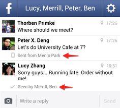 Facebook Messenger para smartphones agora indica se seus amigos leram suas mensagens