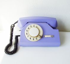 Rotary Telephone Vintage Dial Desk phone from por MerilinsRetro, $45.00