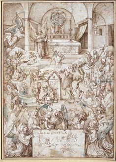 Albrecht Dürer - La Messe des anges, vers 1500