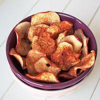 Chips de maçã com canela