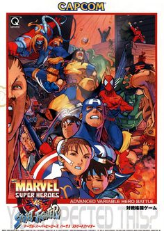 Marvel Super Heroes, X-Men vs. Street Fighter and Marvel vs. Capcom Art Gallery 7 out of 36 image gallery Street Fighter Arcade, Marvel Vs Street Fighter, Marvel Universe, Game Character, Character Design, Comic Art Fans, Marvel Comics, Videogames, Vintage Video Games