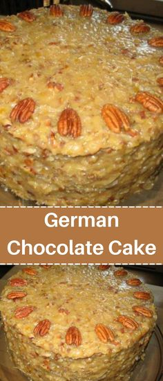 Chocolate Sweets, German Chocolate, Love Chocolate, Sweets Recipes, Cake Recipes, Desserts, Coconut Pecan Frosting, Great Recipes, Favorite Recipes