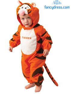THE WONDERFUL THING ABOUT TIGGERS IS TIGGERS ARE WONDERFUL THINGS. This cute-as-a-button costume is a printed play suit with a separate headpiece.   http://www.fancydress.com/costumes/Tigger-Classic-INF/0~4336349~42