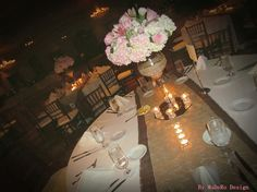 With table runner in burlap