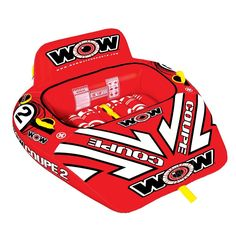 WOW Sports 2-Person Coupe Cockpit Towable Water Float, Multicolor