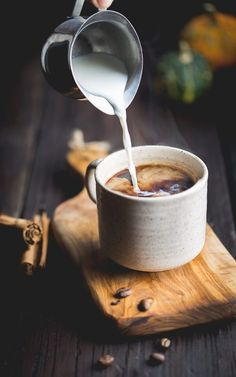 Pumpkin Cafe de Olla - Mexican coffee with a mix of clove, cinnamon, and milk. We added pumpkin for an extra special fall addition.