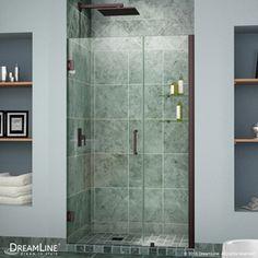Dreamline Unidoor 41-In To 42-In Oil Rubbed Bronze Frameless Hinged Shower Door Shdr-20417210Cs-06