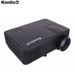 82.08$  Buy now - http://ali0fu.worldwells.pw/go.php?t=32566266956 - Kenitoo Direct Sale Portable HDTV Projector 120inch  Screen Projector Multimedia Importers Support 1080P LED Projector Beamer