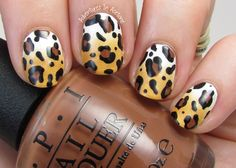 Adventures In Acetone: The Digit-al Dozen DOES Nature, Day 2: Leopard Nail Art!