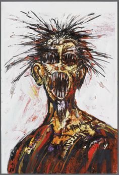 """""""Scream"""" - Painting by Clive Barker I am a huge fan of Clive Barkers paintings (particularly the ones from his Abarat books) and find them very inspirational. Scream, Horror Monsters, Macabre Art, My Demons, Wow Art, Dark Ages, Horror Art, Art Images, Art Inspo"""