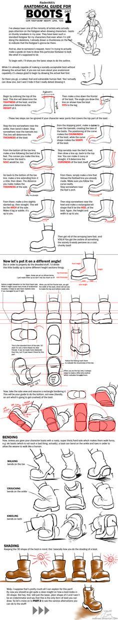 WA's BOOT Anatomy Tutorial Pt1 by *RadenWA [dA]
