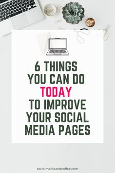 6 Things You Can Do Today to Improve Your Social Media Pages - Don't we all love a quick win? Here are 6 tasks you can do TODAY to improve your social media pages right away. Social Media Planner, Social Media Quotes, Social Media Pages, Social Media Tips, Social Networks, Social Media Marketing Business, Facebook Marketing, Affiliate Marketing, Online Business