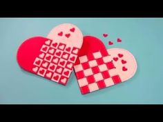 video tutorial .. Scandinavian woven heart ... great for Valentine's Day Card ... slip in a note or a treat ...