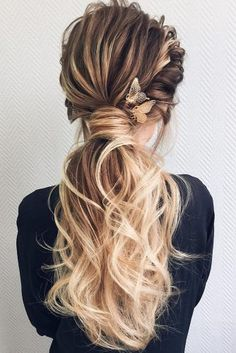 wedding guest hairstyles on long hair volume ponytail geller_makeupstyle via instagram