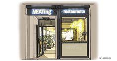 Facade, Madrid, Watercolor, Store, Illustration, Gourmet, Destiny, Illustrations, Pen And Wash