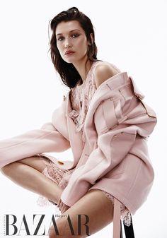 Bella Hadid looks pretty in pink for Harper's Bazaar Australia