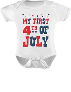 TeeStars  My First 4th of July Infant Independence Day Gift USA Baby Bodysuit 12M White * Want additional info? Click on the image.
