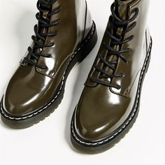 Image 6 of FLAT MILITARY ANKLE BOOTS from Zara