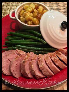Culinaire varkenshaas uit de Airfryer met Airfried aardappelbolletjes en gestoomde sperziebonen - Powered by @ultimaterecipe