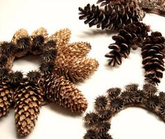 After brushing up all the leaves, why not pick out pine cones for a #DIY wreath? #fall #crafts
