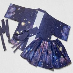 Harajuku Fashion Galaxy Coat/Skirt Shorts