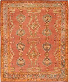 Antique Oushak  Turkish Rugs # 44343 Detail/Large View - By Nazmiyal