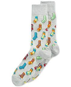 Hot Sox Socks-On-Socks Crew Socks