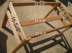 DIY stand for sensory table
