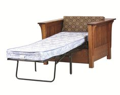 This makes a great spot for a guest to sleep over.  This Amish 1800 Mission Chair Bed is quickly becoming one of our most popular items at DutchCrafters.com.
