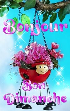 Bonjour, Bon Dimanche Bon Week End Image, Good Night, Good Morning, Weekend Images, French Language Lessons, Bon Weekend, Sunday Quotes, Happy Sunday, Greeting Cards