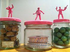 loryn loves...: Pink Army Man Jars