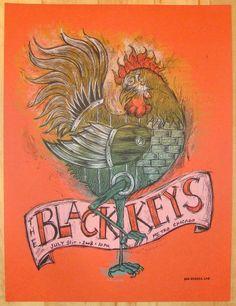 2008 The Black Keys - Chicago II Concert Poster by Dan Grzeca at JoJo's Posters;  http://www.jojosposters.com/products/2008-the-black-keys-chicago-ii-concert-poster-by-dan-grzeca