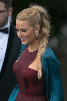 Blake Lively in a Gucci gown, snapped at the opening ceremony of the 67th Cannes International Film Festival, May 14, 2014.
