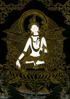 "krodhavighnantaka: ""awakeningfromthedream: "" Buddha - flaming third eye (por Ark in Time) "" White Tara """