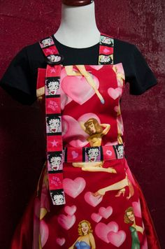 Full Apron Valentine's Day themed Love and by TheElliottsCloset