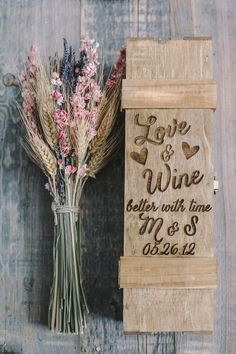 Love & Wine..Better with Time Custom Engraved Wedding Wine Box