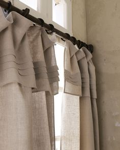 "Pleated-Top Curtains ROD POCKET by Pine Cone Hill at Neiman Marcus.94""L $140 sale white"