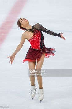 Young You of Korea competes in the Junior Ladies short program during the ISU Junior Grand Prix of Figure Skating at Ondrej Nepela Arena on August 2018 in Bratislava, Slovakia. Figure Skating Outfits, Figure Skating Costumes, Figure Skating Dresses, Dance Costumes, Cosplay Costumes, Skating Pictures, Skate Style, Nice Dresses, Bratislava Slovakia