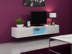 MEUBLE TV Meuble tv design suspendu Vito 180 blanc