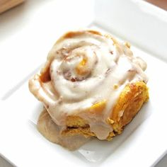 Pumpkin Cinnamon Rolls with Cream Cheese Frosting. Only did the frosting and I used it on the cinnamon rolls. Tasted GREAT! Bf loves it! <3