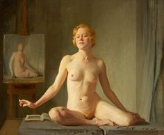 D. D. V (a); Nude Study; The Little Model; Petite modèle Anglaise by Sir Gerald Kelly (British 1879-1972)