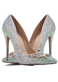 4a33ff0d1fe Delicate Patent Leather Upper Closed Toe Stiletto Heels Wedding Shoes With  Hot Fix Rhinestone