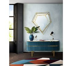 Diamond Mirror Mid Century Modern Furniture By Essential Home